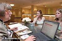 Hotel Monteleone Concierge, Eva Gallerani, uses the 1-800-volunteer.org web site to help hotel guests find opportunties to volunteer in the pos-Hurricane Katrina disaster recovery efforts. Some organizations only take groups, or require a week commitment, but other organizations are happy to have even a couple hours of assistance.